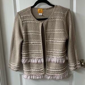 Ruby Road petite detailed cardigan sweater.